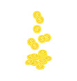 falling gold coin vector image
