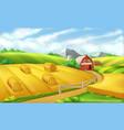farm landscape panorama 3d vector image
