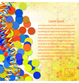 Festive abstract background with yellow streamers vector image vector image