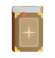 flat book icon eps10 vector image vector image