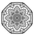 flower mandala vintage decorative elements vector image vector image