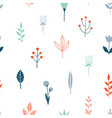 flower simple minimalist seamless pattern vector image vector image
