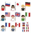 g8 flags vector image