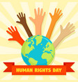 global human rights day concept background flat vector image