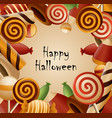 happy halloween theme collected candy vector image vector image