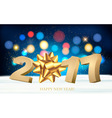 Happy new year 2017 holiday background with a gift