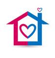 heart house logo design vector image vector image