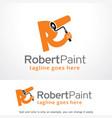 letter r paint logo template vector image