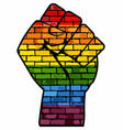 lgbt protest fist vector image