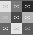 limitless symbol grayscale vector image vector image