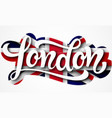 london lettering sign vector image vector image