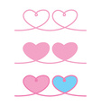 love heart ribbon rope decor inspiration idea vector image vector image
