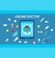 medical consultation online doctor health care vector image