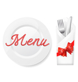 Menu with platefork and knife in envelope vector | Price: 1 Credit (USD $1)