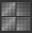 monochrome halftone background set vector image