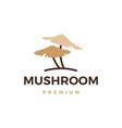mushroom logo icon vector image vector image