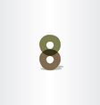 number 8 logo icon 8 eight symbol vector image vector image