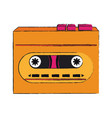 old cassette recorder pop art colors vector image