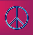 peace sign blue 3d printed vector image