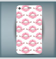 phone case closeup beautiful lips of woman sexy vector image vector image