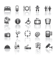 pictograms hotel services vector image