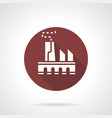 power plant burgundy round icon vector image vector image