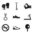 reward for duel icons set simple style vector image vector image