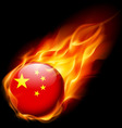 Round glossy icon of china vector image