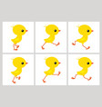 running chicken animation sprite sheet isolated vector image vector image
