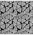 Seamless hand drawn triangle pattern vector image vector image