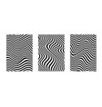 set layouts with wavy lines twisted duotone vector image vector image