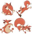 Set of squirrels cartoon vector image vector image