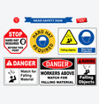 set safety head sign vector image vector image