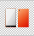 smartphone in orange color isolated object vector image vector image
