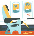 the passenger seat in airplane business class vector image