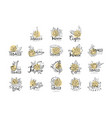tobacco logo design set emblems can be used for vector image vector image