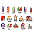 countries of the world logo design template vector image