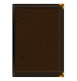 notepad in brown leather binding vector image