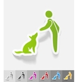 realistic design element training dogs vector image