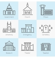 Set of government buildings icons vector image