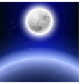 Full moon in the night sky vector image