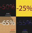 25 65 55 icon Set of percent discount on abstract vector image
