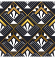 abstract art deco gold black seamless pattern vector image vector image