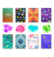 abstract liquid shapes design covers pages set vector image vector image