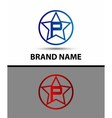 Alphabet icon P logo vector image vector image