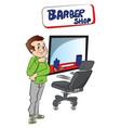 barber at shop vector image