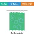 Bath curtain icon vector image vector image