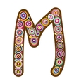 Beautiful letter M vector image