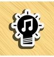 best idea icon design vector image