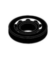 black bearing on a white vector image vector image